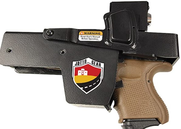 Jotto Gear Quick Access, Rugged Steel, Officially Licensed NRA Locking Handgun Car gun holster mounts