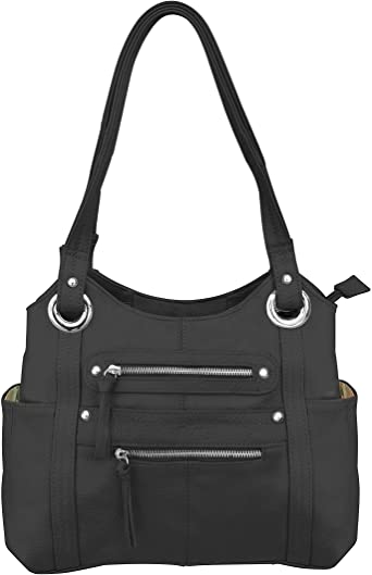 Roma leather concealed carry purse
